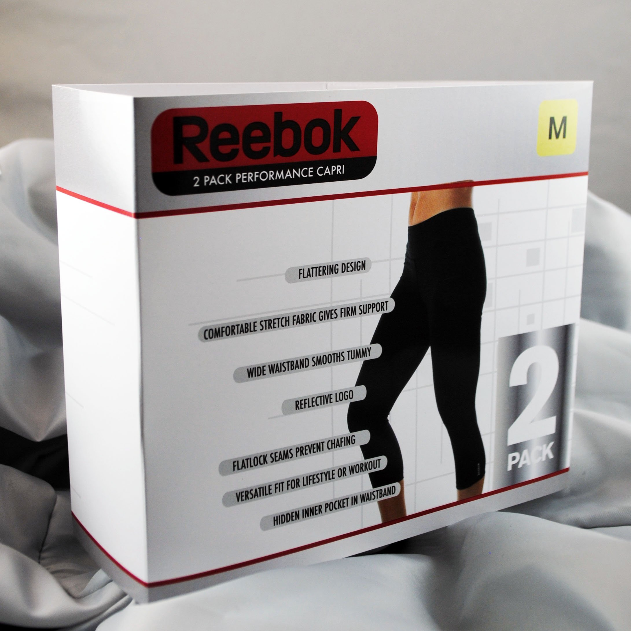 Reebox 2 Pack Performance Capri Packaging Box