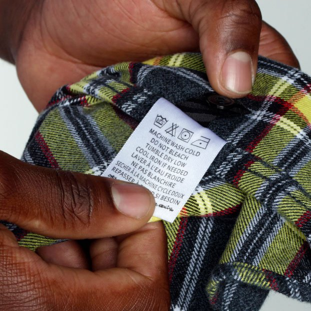 Checkered Care Labels