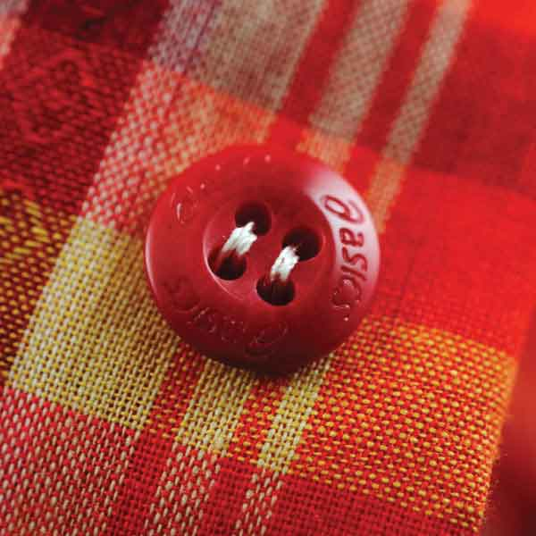 Asics Red Plastic Button