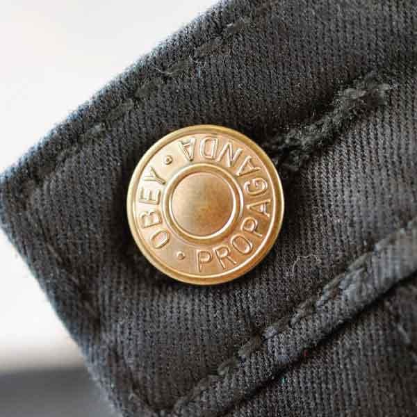 Obey Metal Shank Button