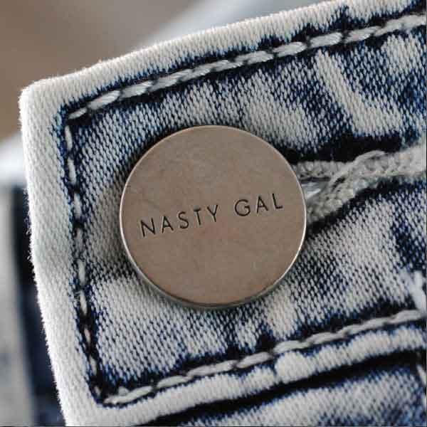 Nasty Gal Engraved Metal Shank Button