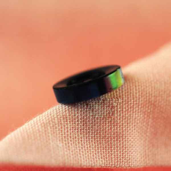 Black Plastic Button