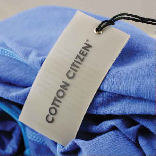 Cotton Citizen Plastic Hangtag