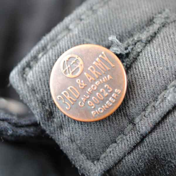 3rd and Army Metal Shank Button