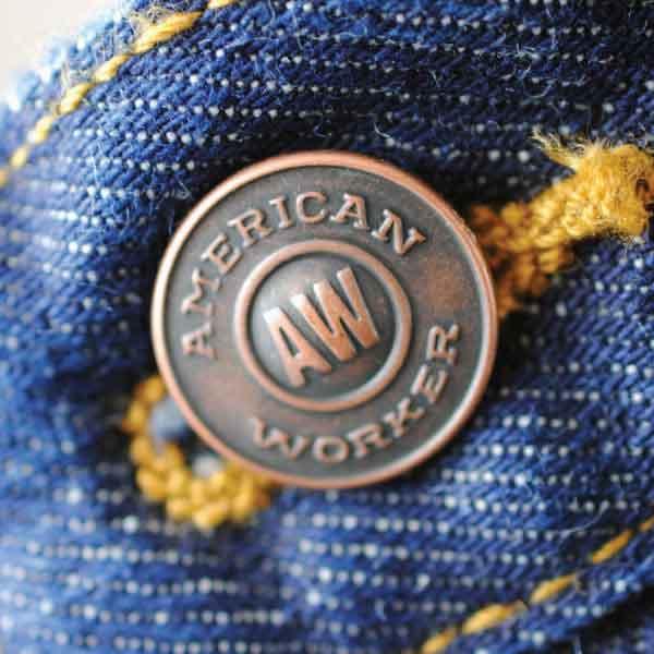 American Worker Shank Button