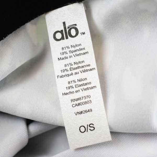 Alo Yoga Care Label