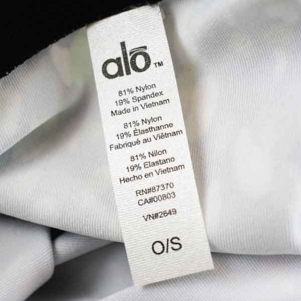 Alo Yoga Care Label