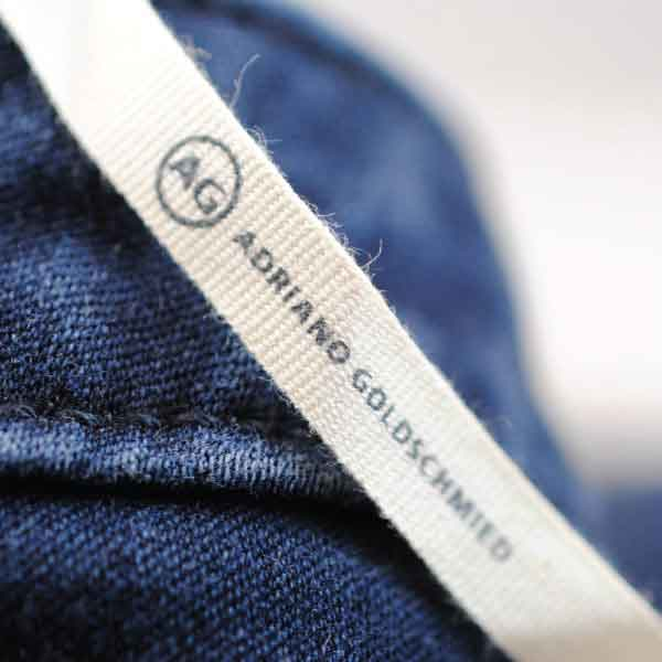 Adriano Goldschmied (AG) Canvas Printed Label