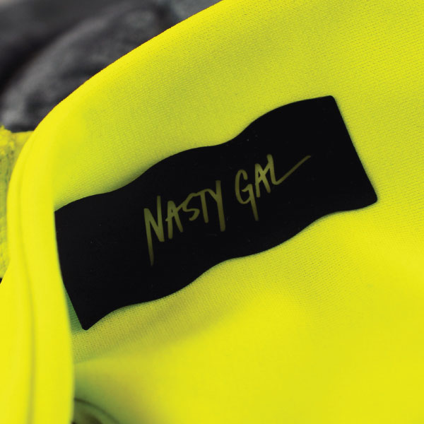 Nasty Gal Silicon Printed Label