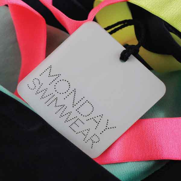 Monday Swimwear Clear Sheet Hangtag
