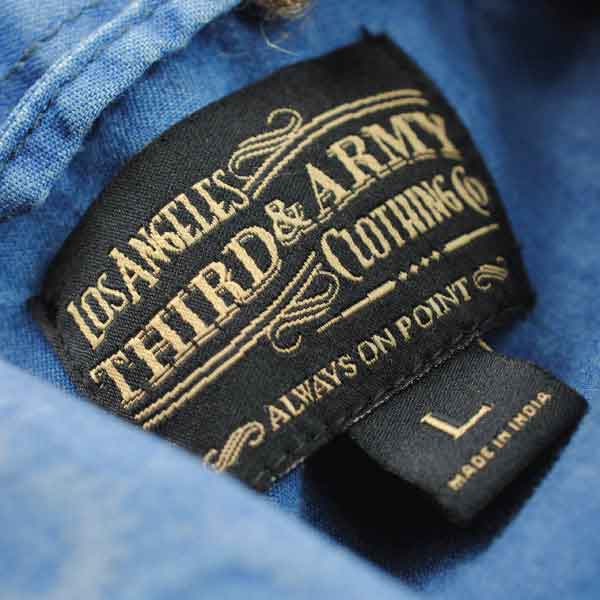 Third and Army Clothing Company  Woven Label