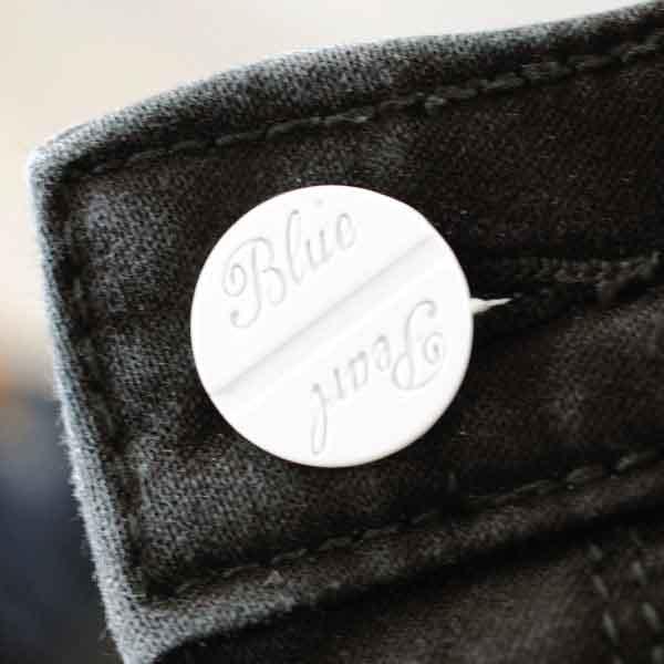 Blue Pearl Metal Shank Button