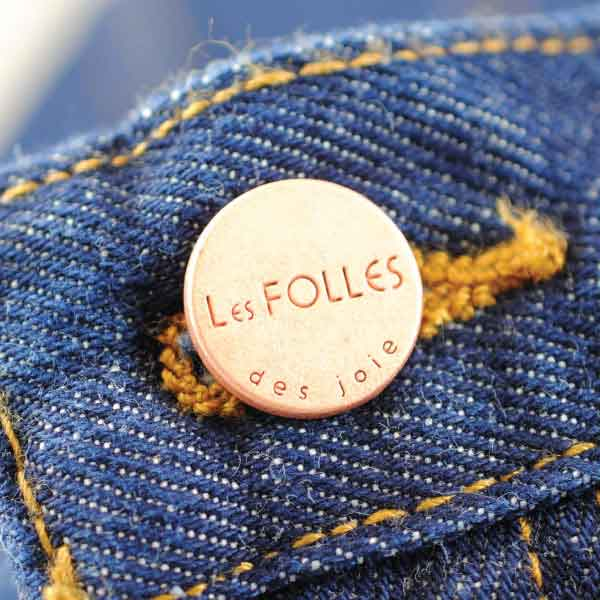 Joie Engraved Metal Shank Button