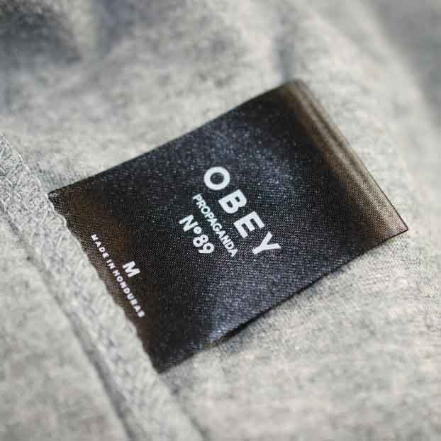 Obey Satin Printed Label