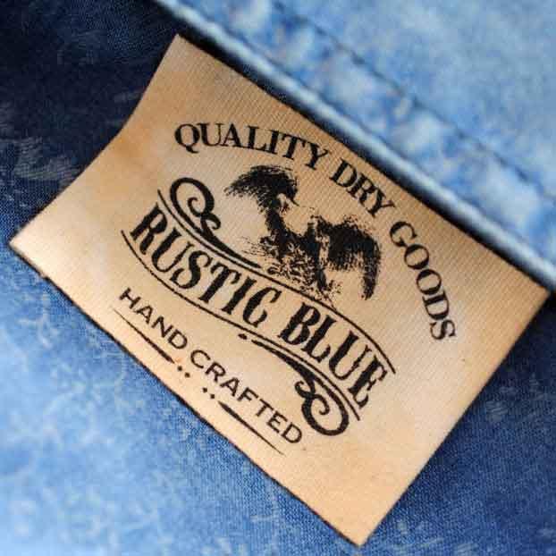 Rustic Blue Printed Label