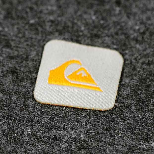Quiksilver Woven Label Heat Transfer